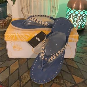 Ugg Navies 2 blue sandals size 9 NWT